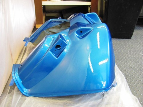 Original Clear Coated Fairing Using Stock Air Line Fittings