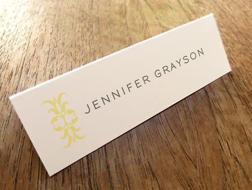 Printable Escort Card - Ornament