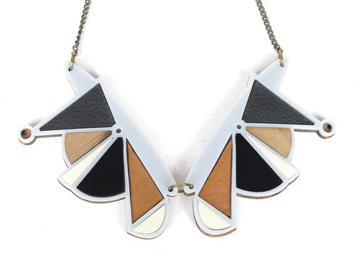 Necklace Geometric Grey1