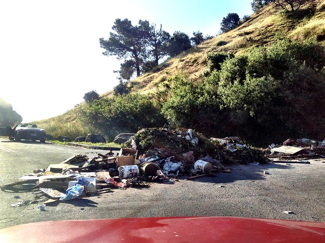 Illegal Dumping on Bernal Hill