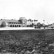 DC-3 no Campo de Aviação de Pedras Rubras