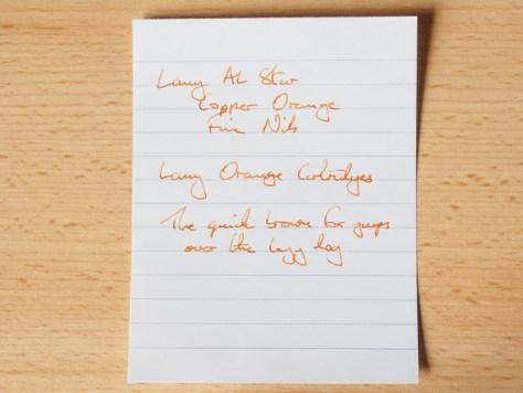 Lamy Al-star copperorange - Lamy Orange Cartridge