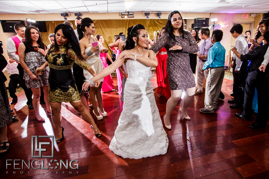 Dancing during the wedding reception