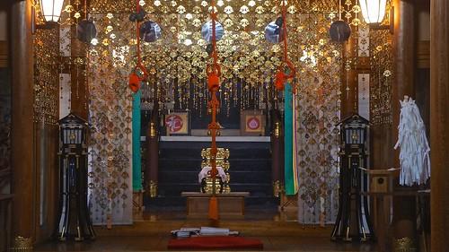 The main hall of the Atago Shrine