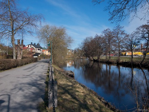 Sunny morning on the banks of Ronneby Ån