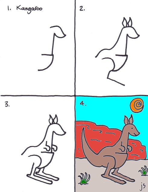 How to Draw a Kangaroo for kids
