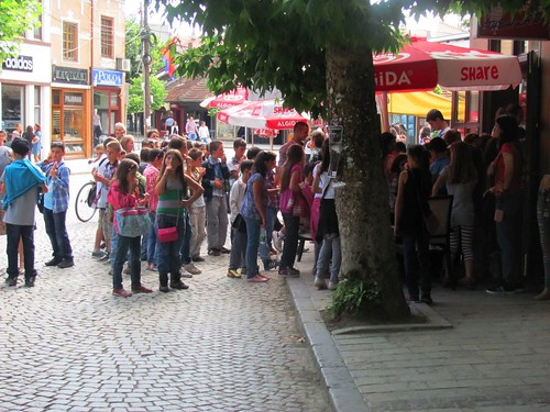 Prizren, School Children at Ice Cream Stand