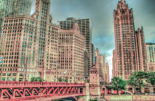 Chicago river bridge