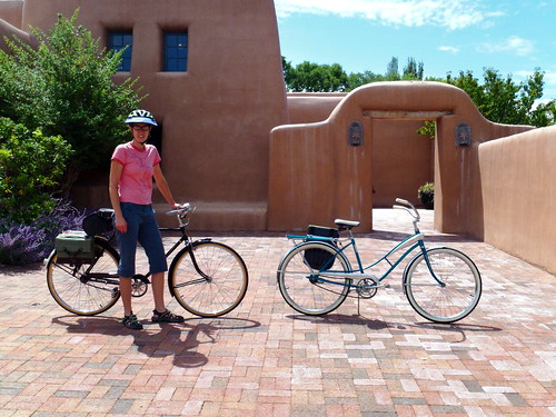 Outside the Gerald Peters Gallery Santa Fe