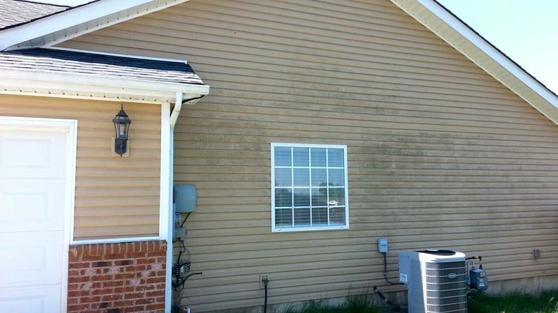 DIY House Wash - Algae on siding