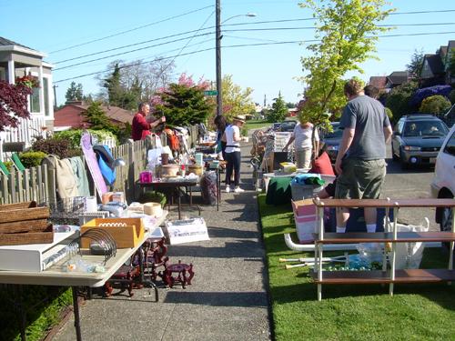 Sidewalk Sale in West Seattle