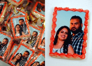 Edible Photo cookie for a wedding