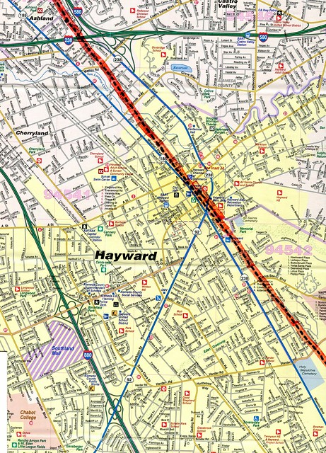 Hayward Fault Map Location
