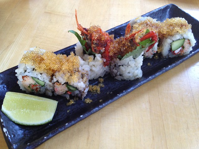 Spicy soft shell crawfish maki - Sushi Ran