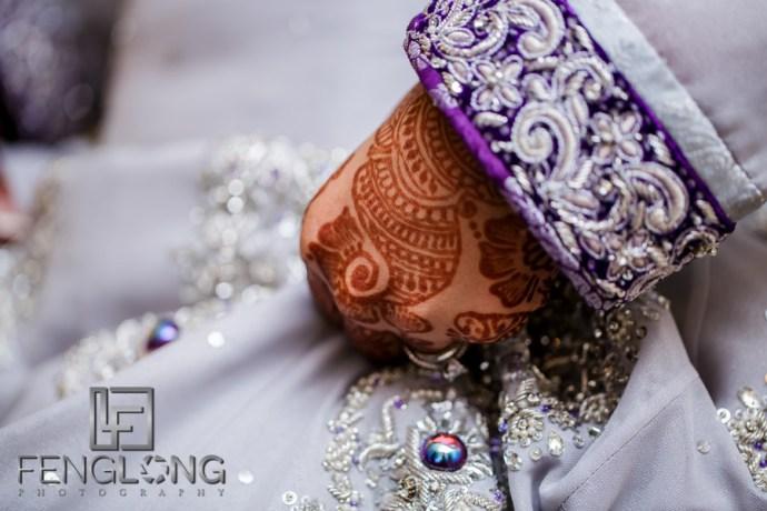 Indian bridal dress details