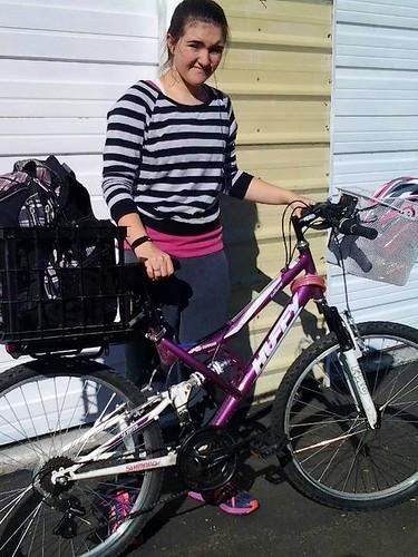Teen cyclist ready to go