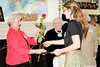 35  Danuta Buzdygan presents Isobel Nass, winner of the Eleanore LeNoble DeYoung Memorial Award, her rose.