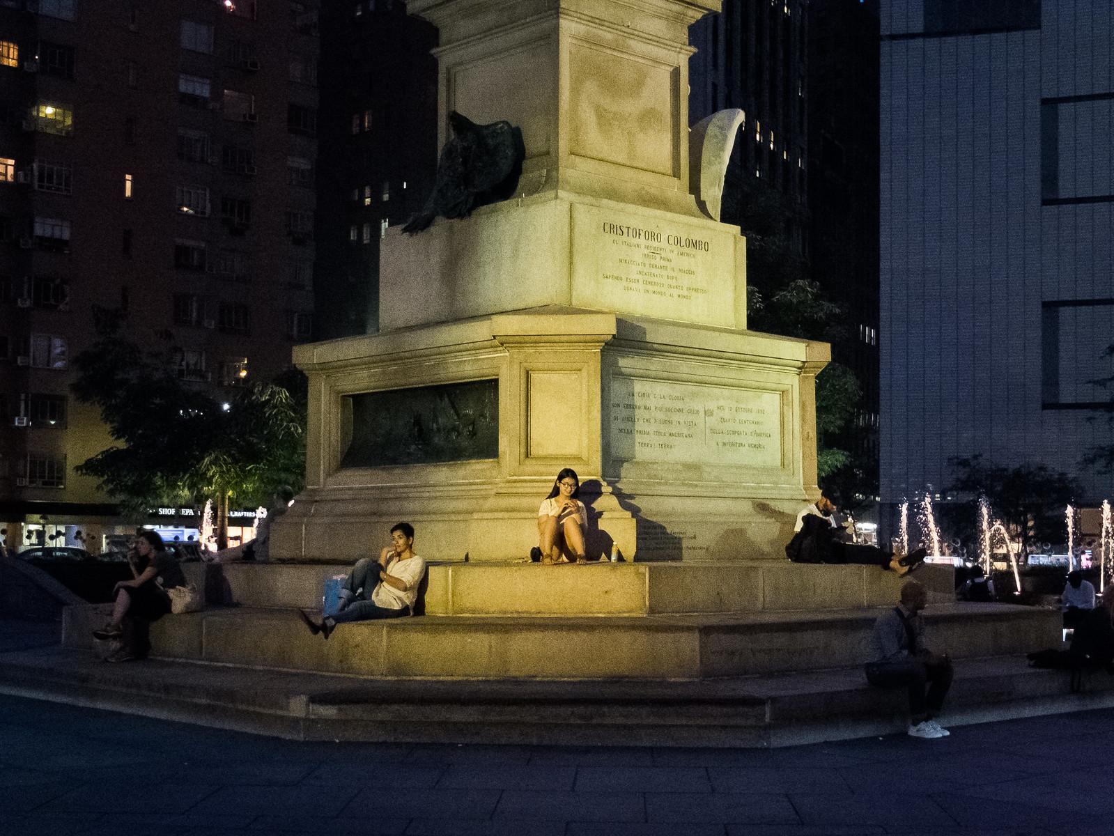 Hanging out at Columbus Circle by wwward0