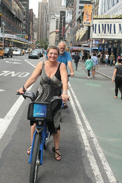 Tourists on Their Citibike Way to a Broadway Show