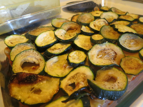 Zucchini, eggplant and spinach lasagna