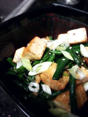 Fried tofu and chinese string beans by pipsyq