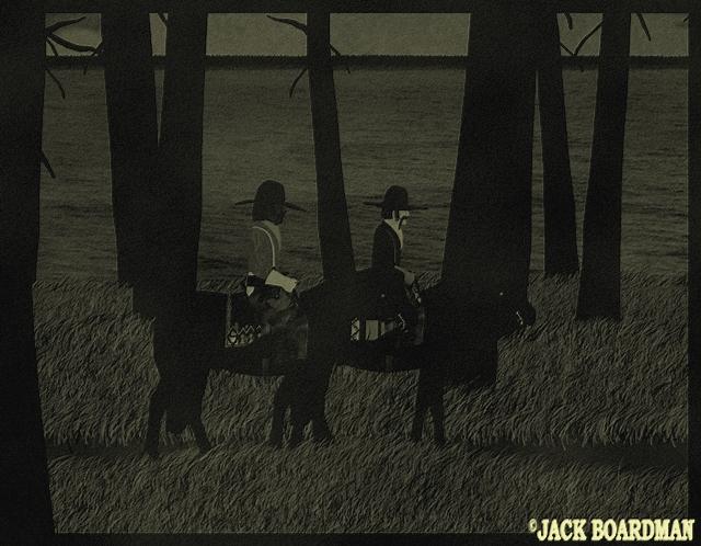 Clem Reed & Chuck Dayton in search of work ©2012 Jack Boardman