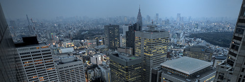 Hazy skyline of Tokyo -- Nikon D800E by hidesax