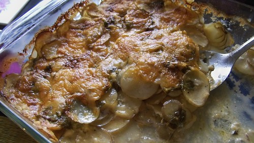 New Potatoes Gratin