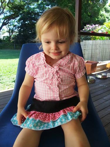 Denim Ruffle Skirt 4