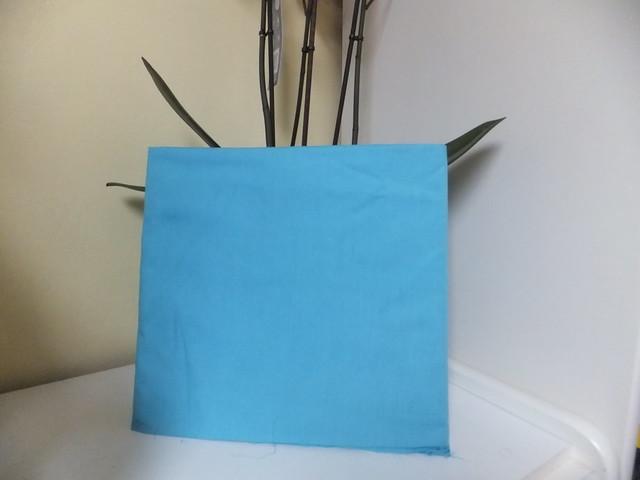 katoen stof 1m blauw