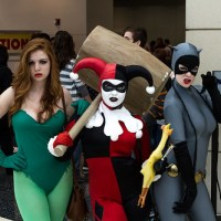 Poison Ivy Harley Quinn and CatWoman C2E2 2012
