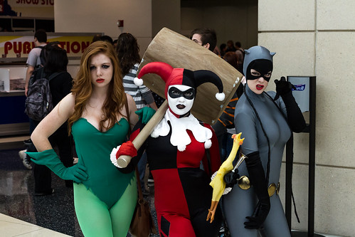 Poison Ivy Harley Quinn and CatWoman C2E2 2012 by chris favero