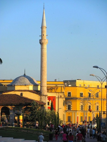 Tirana, Albania-Mosque with Minaret