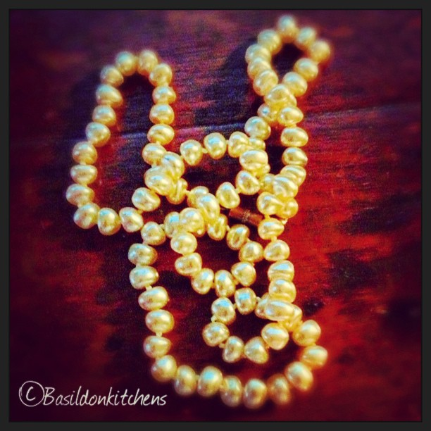 Aug 1 - something beginning with 'n' {necklace; pearls from my mom} #fmsphotoaday #necklace #pearls