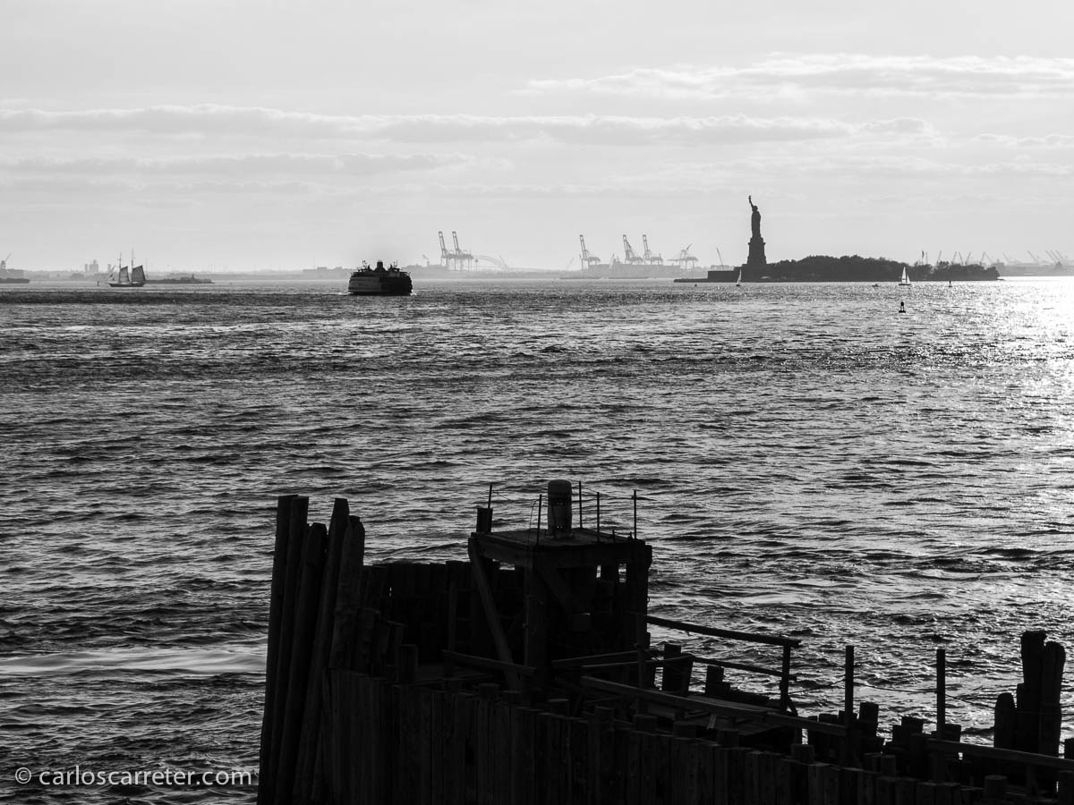 Liberty Island desde South Ferry