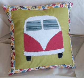 VW Bus Pillow Front