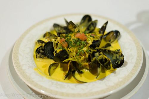 Mussels Saffron Soup