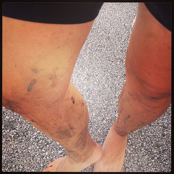 Amazing how dirty you can get NOT riding your bike. Major singletrack wimpiness on display today. #mtb #bike #trails