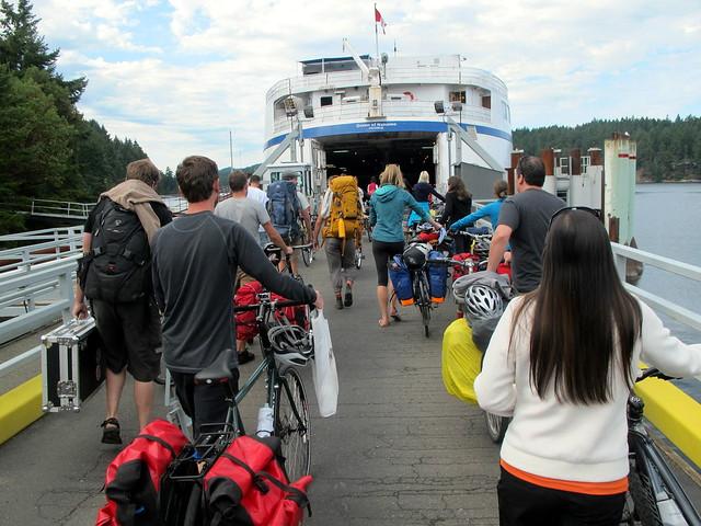 Loading Bikes onto the Ferry