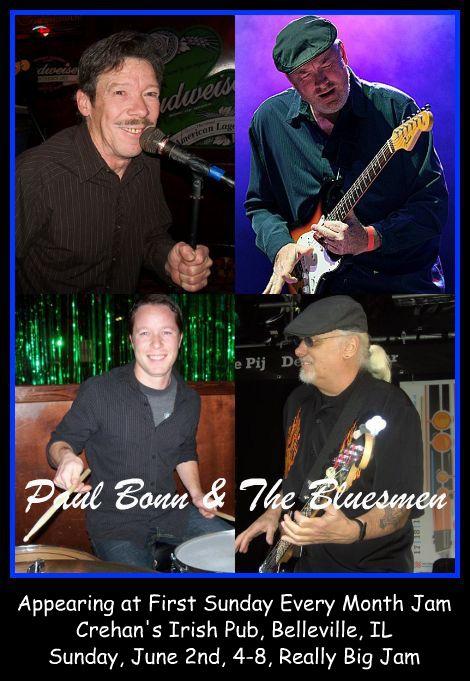 Paul Bonn & The Bluesmen 6-2-13