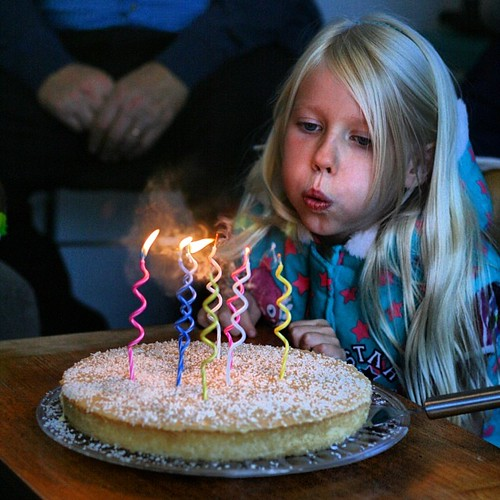 Karítas blowing out her 8 candles. Why do kids grow up so fast?