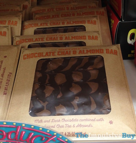 Trader Joe's Chocolate Chai & Almond Bar