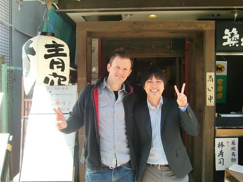 Tokyo-109- Fish market restaurant Peter and Ryo