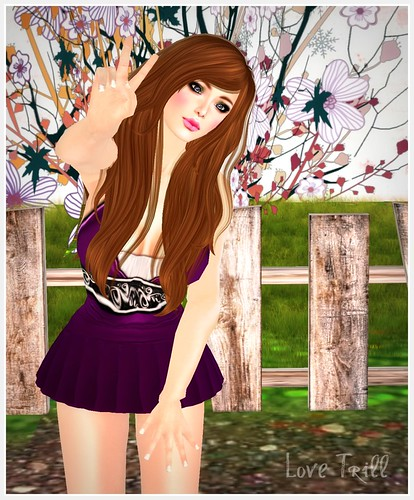 1 Hundred Cherish Dress in Violet @ The Kawaii Fair