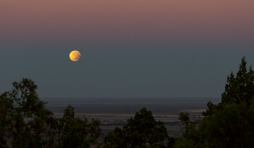 Eclipsed Moonset by Daniel Hall - AUS