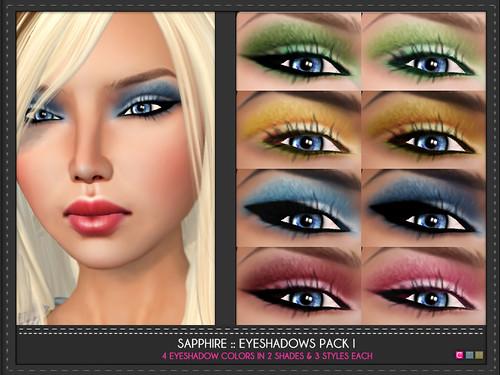Sapphire Eye Shadows Pack 1
