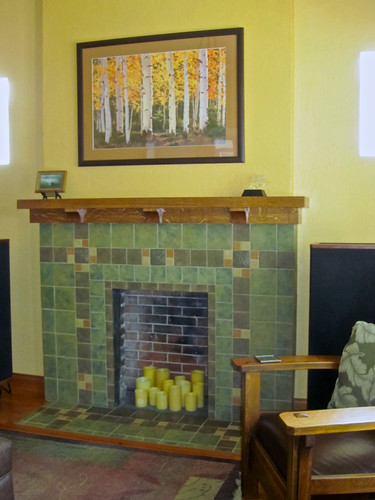 Completed fireplace