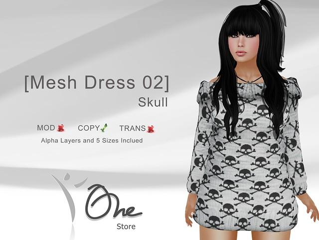 [Mesh Dress 02] Skull