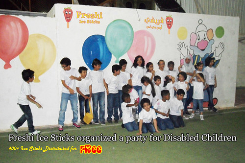 Freshi Party for Disabled Children by Freshi Ice Sticks Jeddah Saudi Arabia