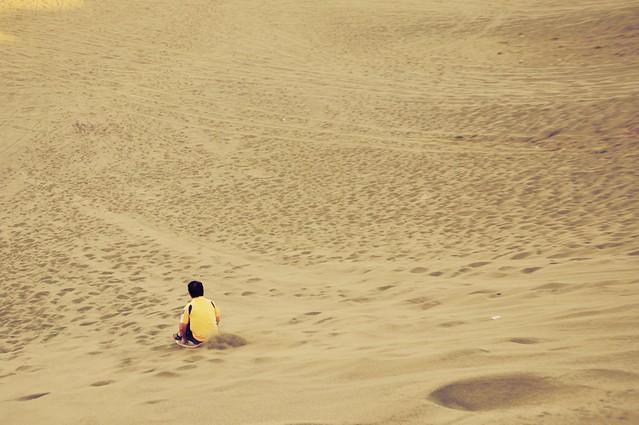 Sandboarding in La Paz